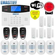 G2BW LCD Keypad WIFI GSM PSTN Home Burglar Security Wireless Wire Alarm System Motion Detector APP Control Fire Smoke Detector