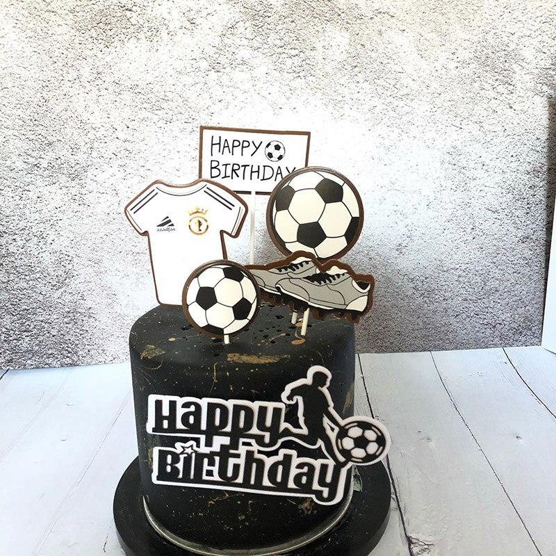 Cool New Football Basketball Happy Birthday Cake Topper Sport Theme Funny Birthday Cards Online Benoljebrpdamsfinfo