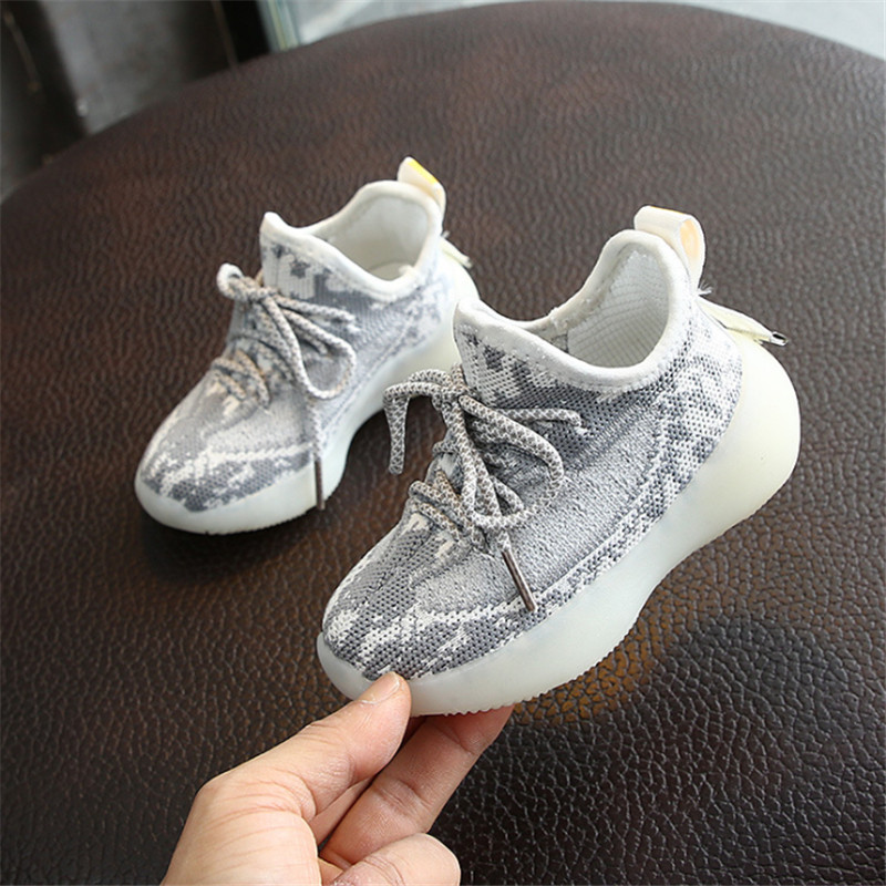 DIMI 2020 Spring Children Shoes Boys Girls Breathable Knitting Sport Shoes Soft Bottom Little Boy Coconut Shoes Baby Sneakers