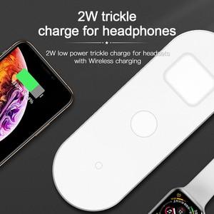 Image 5 - Amzish 20W rápido QI 3 en 1 cargador inalámbrico para iPhone 8 X XR XS 11 Max base de carga inalámbrica para el reloj de Apple 4 3 2 Airpods