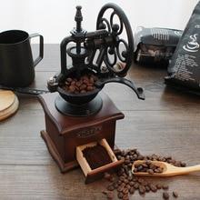Mill Coffee-Grinder Spice Handmade Burr Manual Mini Retro Hand-Cast-Iron Wooden