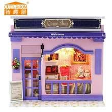 Diyminiature игрушка дом кукла фиолетовый романтическая серия