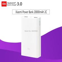 Внешний аккумулятор,, Xiao mi, 20000 мА/ч, 2C, портативное зарядное устройство, поддержка QC3.0, двойной USB mi, внешний аккумулятор, 20000, для мобильных телефонов