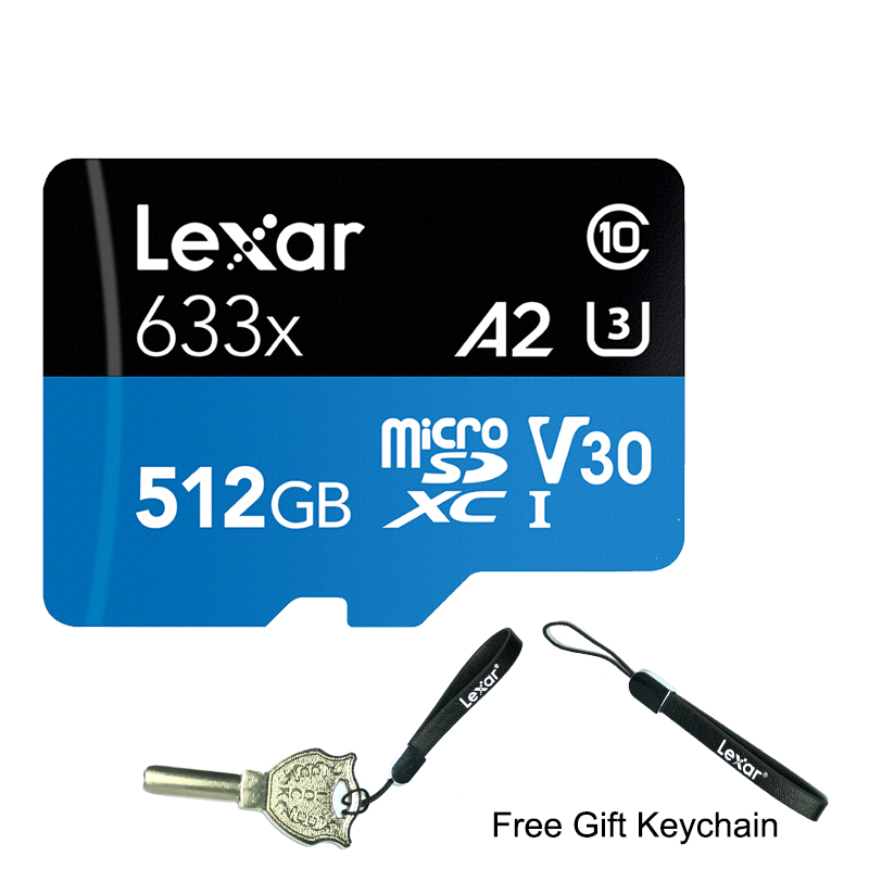 Original Lexar 633x 512GB Micro SD Card 256GB Memory Card 64GB High Speed Up To Max 95M/s 128GB C10 For Gopro Nintendo Switch