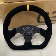Steering-Wheel Horn Button Racing Carbon-Fiber Suede Sport Spoke 70mm Real 13inch D-Shape