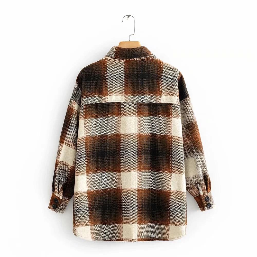 H246749aa993b44d98bc09dc010cb072bc Vintage women 2019 long sleeve woolen coats fashion ladies thick plaid coat female streetwear elegant girls oversize jacket chic