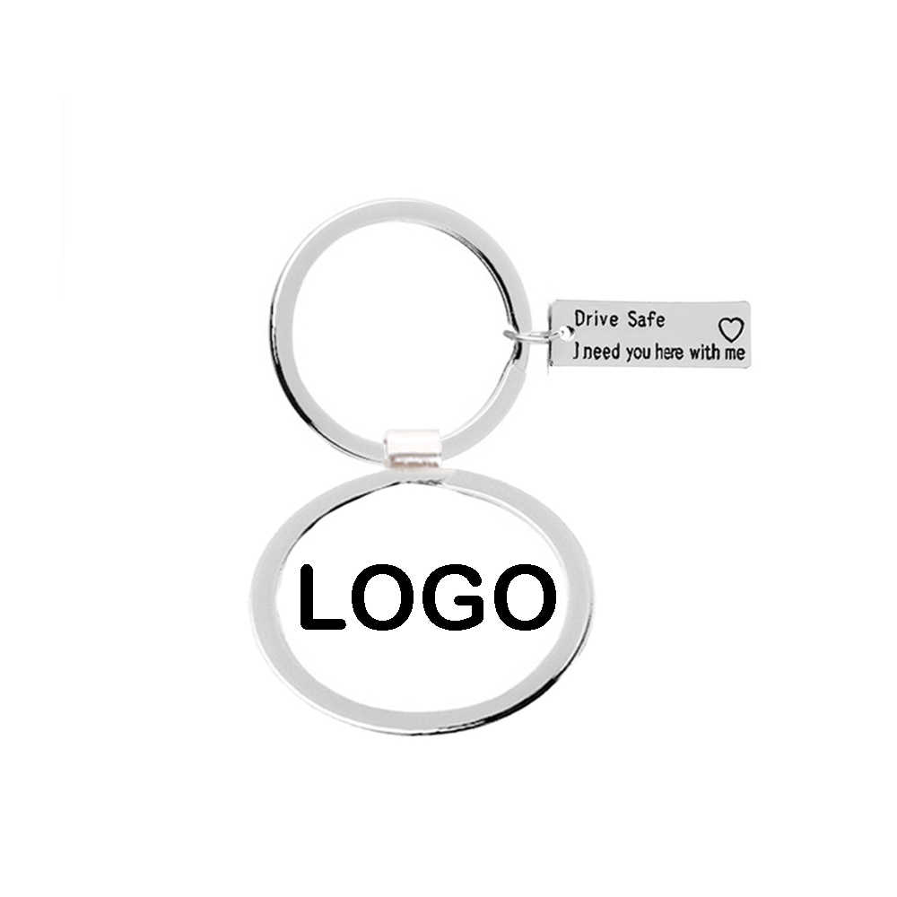 Logotipo del coche Acero inoxidable personalizado regalo llavero para Toyota V W Peugeot Hyundai Honda Benz Audi