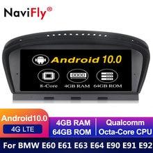 Radio multimedia con GPS para coche, radio con reproductor dvd, pantalla IPS, Android 10, navegador, para BMW serie 5, E60, E61, E63, E64, E90, E91, E92, CCC, CIC