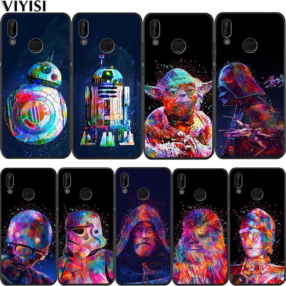Luxury Star Wars Phone Case For Huawei p20 lite P30 Pro Mate 20 Lite Honor 8X 10 20i V20 P Smart Black Soft Silicone Etui Coque image
