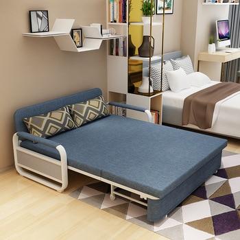 Modern Sofa Bed Foldable Single Double Small Multi-functional Fabric Sofa  Диван-кровать