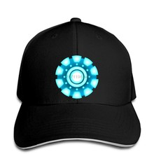 IRON MAN ARC REACTOR MENS Baseball cap TONY STARK INDUSTRIES AVENGERS SUPERHERO Mans Unique snapback hat Peaked(China)