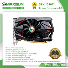 Maxsun GTX1050TI Transformatoren 4G Grafikkarte Nvidia GDDR5 128bit GPU Video Gaming Video Karte Für PC Computer DP DVI