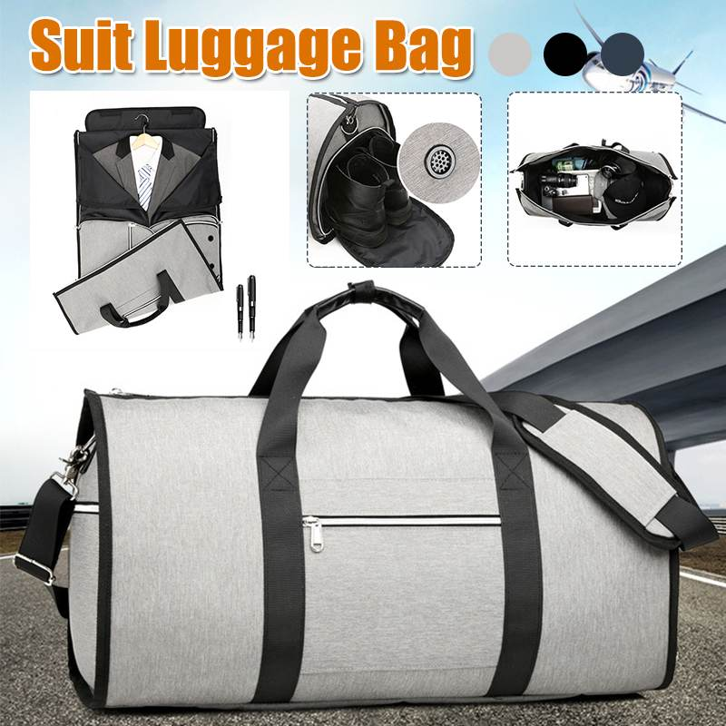 Aequeen Multifunction Large Capacity Men Travel Bag Waterproof Duffle Bag For Trip Suit Storage Hand Luggage Bags Shoe Pouch