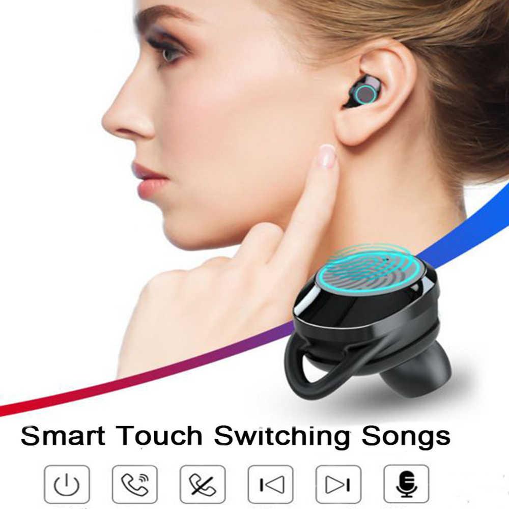G02 tws 5.0 Bluetooth 9D ステレオイヤホンワイヤレスイヤホン IPX7 防水イヤホン 3300 led スマートパワーバンク電話ホルダー