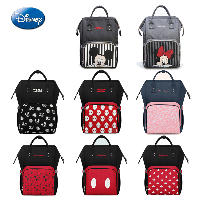 Disney Brand Baby Diaper Bag  Large Capacity Baby Bags Travel Backpack Fashion Mummy Maternity Nappy Bags Designer Nursing Bag