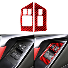 2 Stuks Carbon Fiber Venster Lift Schakelaar Frame Trim Sticker Voor Nissan GT-R R35 2008-2016 Perfect Cover Dat is Nuttig
