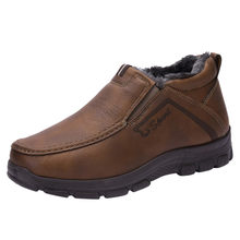 Boots Autumn Winter Men's tide leather male Korean version Outdoor Wear Non-Slip Shoes retro tooling boots Comfort Retro Shoes(China)