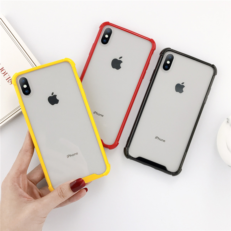 moskado Anti-knock Mobile Phone Cases Cover For iPhone X XR XS MAX 7 8 7Plus Candy Color Frame Case Hard Back