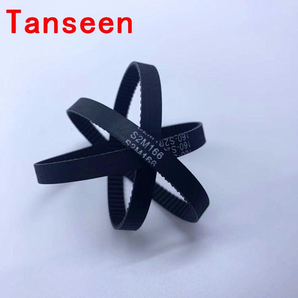 S2M-134 67 Teeth 6mm Width Black Rubber Cogged Industrial Timing Belt