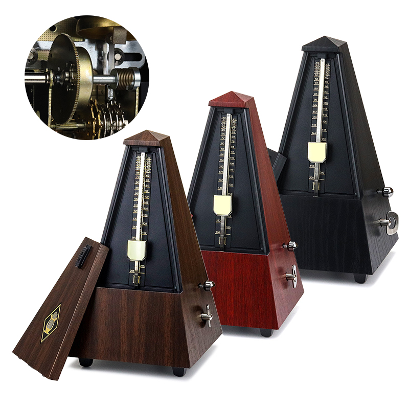 Mini Metronome For Guitar Bass Piano Violin Vintage Tower Type Guitar Metronome Bell Ring Rhythm Mechanical Pendulum Accessories