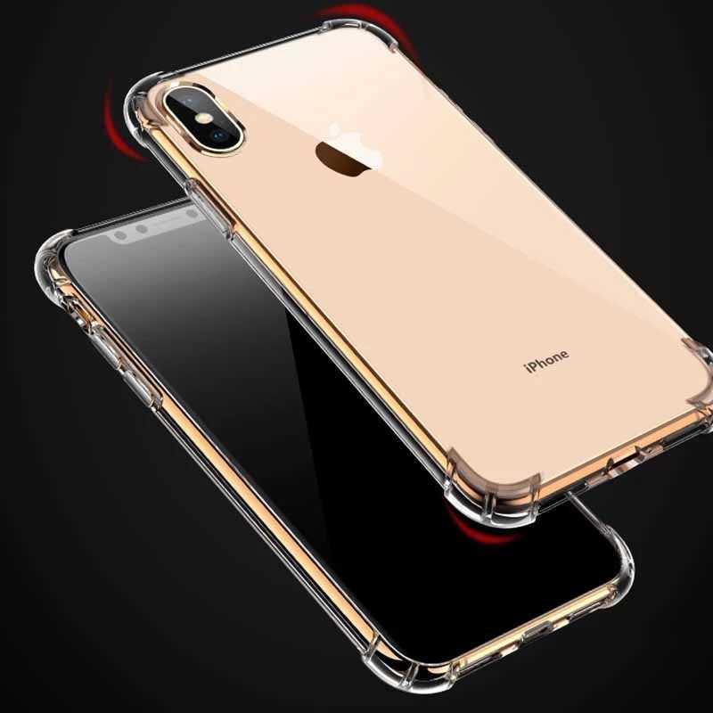 สี่มุม Air Cushion กันกระแทก Anti-scratch Crystal Clear Tpu สำหรับ Iphone6 7 8 Xr Xs max ซิลิโคนกรณี