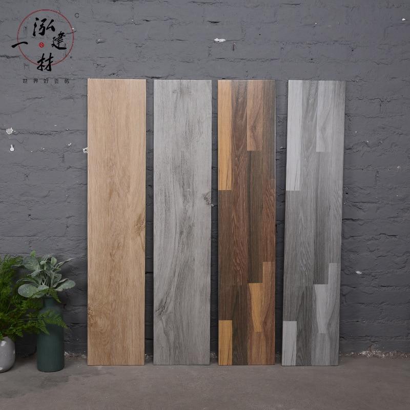 Scandinavian Minimalist Specification Wood Grain Tile Imitation Wood Living Room Bedroom Anti-slip Large Gray Floor Tile 200*100