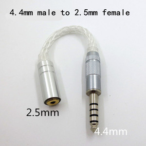 Image 5 - Audio Earphone 8 core single crystal copper silver plated cable adapter male to female 3.5mm 4.4mm 2.5mm adapter converter plug