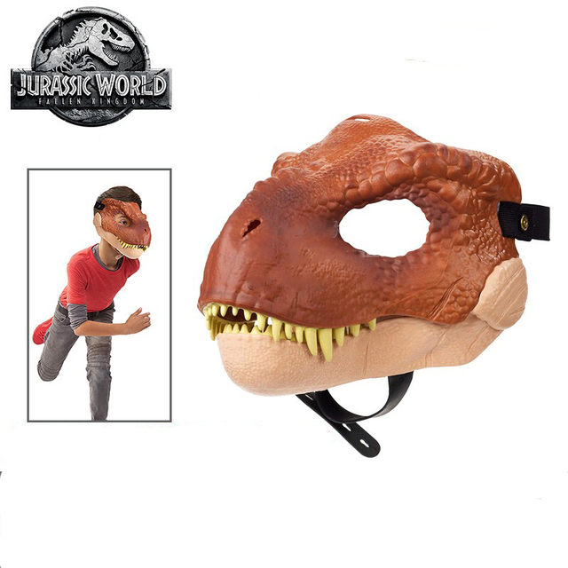 Original Jurassic World Toys Dinosaur Mask Action Figure Hot Toys for Children Anime Figure Boys Toys Halloween Party Cosplay 3