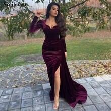 Smileven арабское вечернее платье Русалка с длинным рукавом