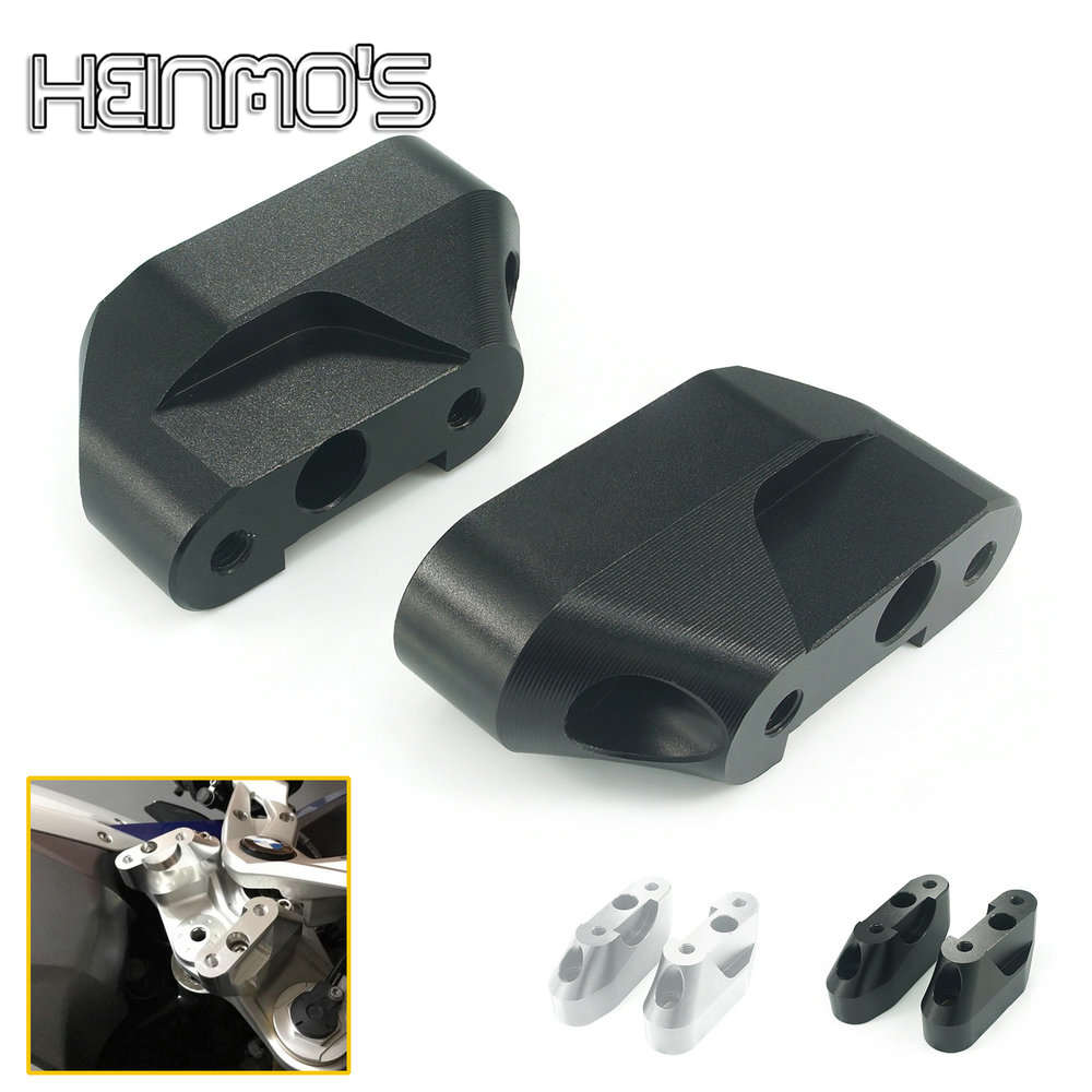 For <font><b>BMW</b></font> Motorcycle R1200RS R <font><b>1200RS</b></font> 1200 RS Extend Handlebar Riser Move Up 2015 2016 CNC Clamp Adapter Bracket Kit Accessories image