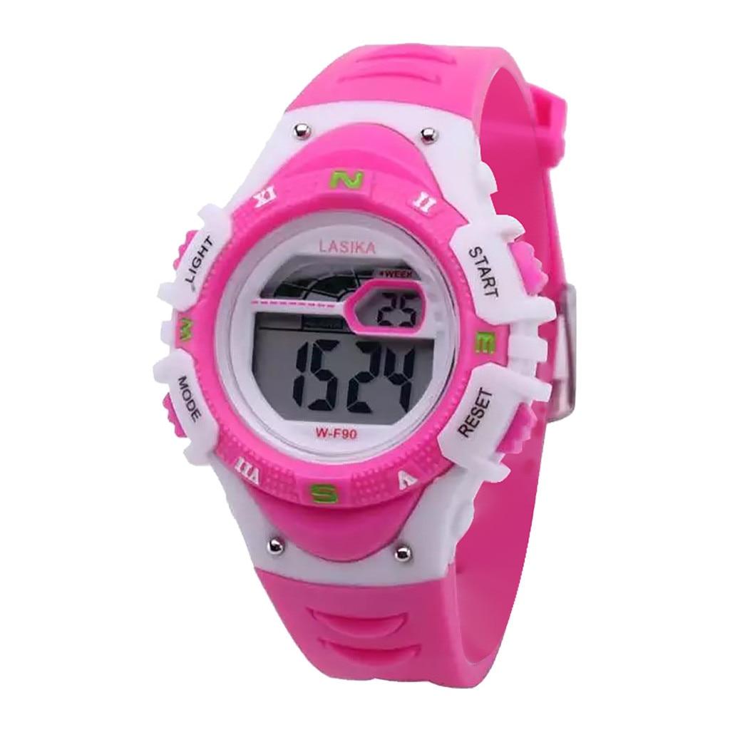 Multifunction Sport Watch For Kids Waterproof Week Display Plastic Children Wristwatch 9 Colours Reloj Niños Relogio Infantil
