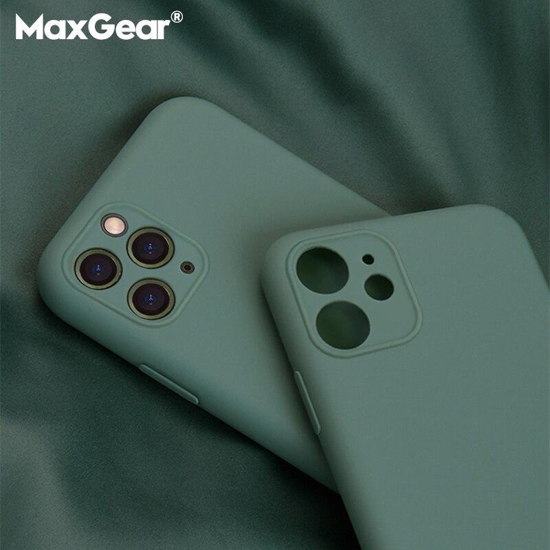 Роскошный оригинальный силиконовый чехол для iPhone 11 Pro с полной защитой, мягкий чехол для iPhone X XR 11pro XS Max 7 8 6 6s Plus SE 2