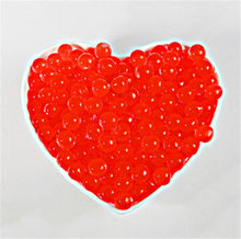 500 pcs/Lot Red Pearl Shaped Crystal Soil Water Beads Mud Grow Magic Jelly Balls Home Decor Aquatic Soil Wholesales(China)
