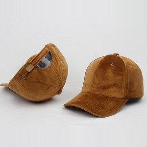 Image 4 - Marca de lujo, gorras de béisbol de terciopelo y algodón para hombres y mujeres, sombreros camionero deportivos, gorra de papá, sombrero de invierno para exteriores, sa 8