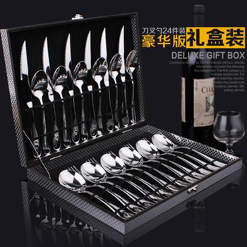 24 Piece Gold Cutlery Set Stainless Steel Cutlery Set Cutlery Spoon Cutlery Set Gift Box фото