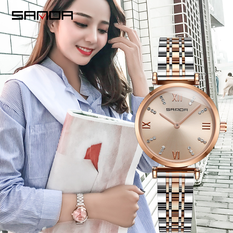 Ladies Dress Watches 2020 Girl Watch Fashion Quartz Watches Women Relogio Feminino Watch Gifts Waterproof Rose Sliver|Women's Watches| |  - title=