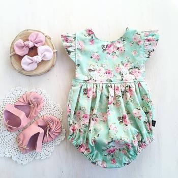 0-18M Newborn Kids Baby Girls Jumpsuits Romper Infant Onesie Printed Floral Sunsuit Summer Clothes Outfits