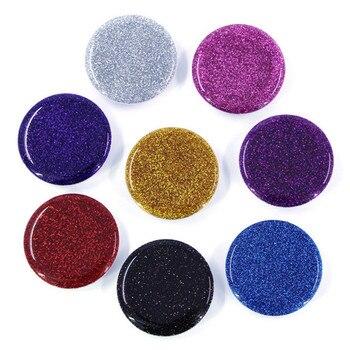 Soporte de anillo expansible para teléfono inteligente, mármol 3d, bonito, movil, purpurina, negro, dorado, plateado, 6 colores