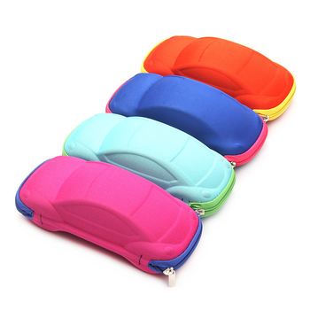 Sunglasses Storage Organizer Box Car Shape Glasses Case Container with Zipper Eyewear Case image