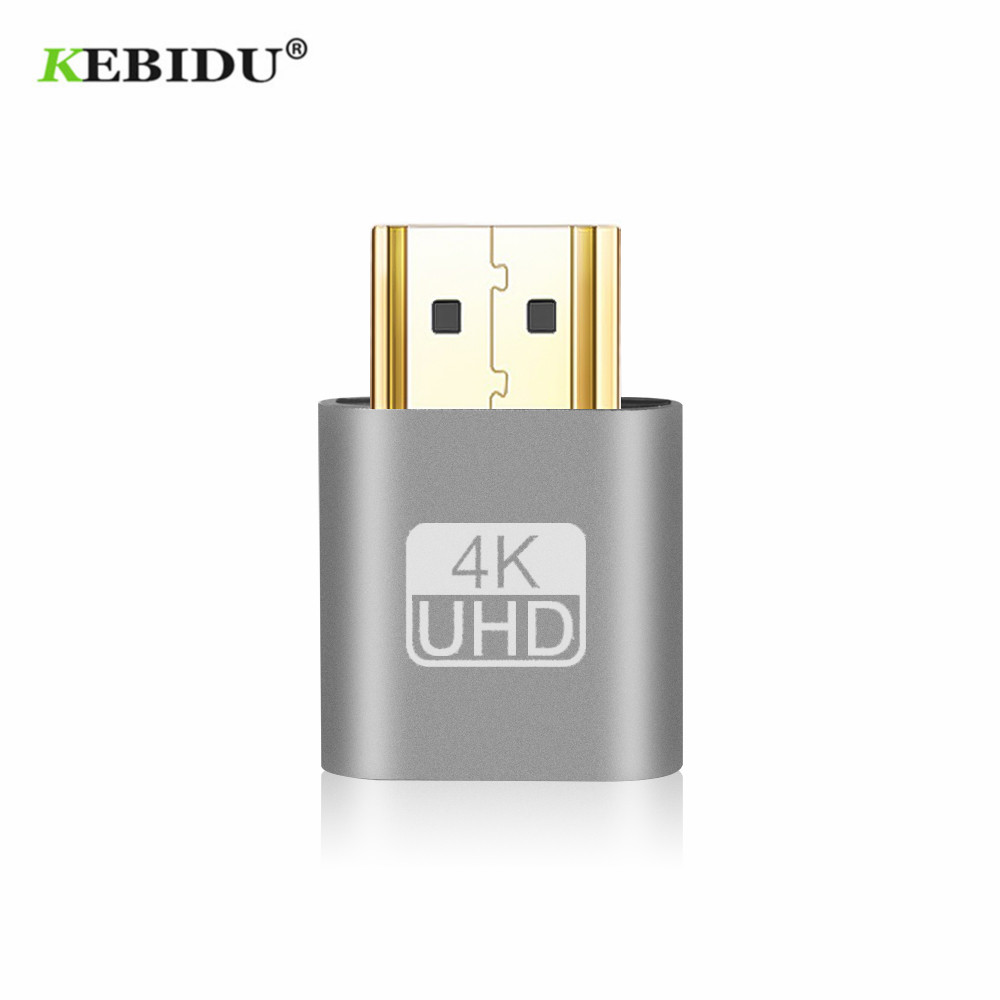 Kebidu 2018 HOT SALE VGA Virtual Plug HDMI Dummy Adapter Virtual Display Emulator Adapter DDC Edid Support 1920x1080P For Video-in Computer Cables & Connectors from Computer & Office