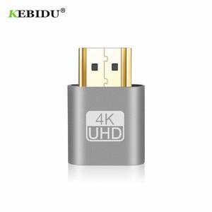 Image 1 - Kebidu 2018 HOT SALE VGA Virtual Plug HDMI Dummy Adapter Virtual Display Emulator Adapter DDC Edid Support 1920x1080P For Video