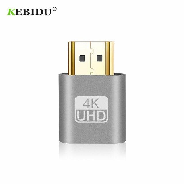 Kebidu 2018 מכירה לוהטת VGA וירטואלי תקע Hdmi DUMMY מתאם וירטואלי תצוגת אמולטור מתאם Ddc EDID תמיכת 1920x1080 p עבור וידאו