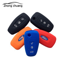 New car key cover for Ford Mondeo winning Fox Carnival Maverick folding smart silicone bag accessories h