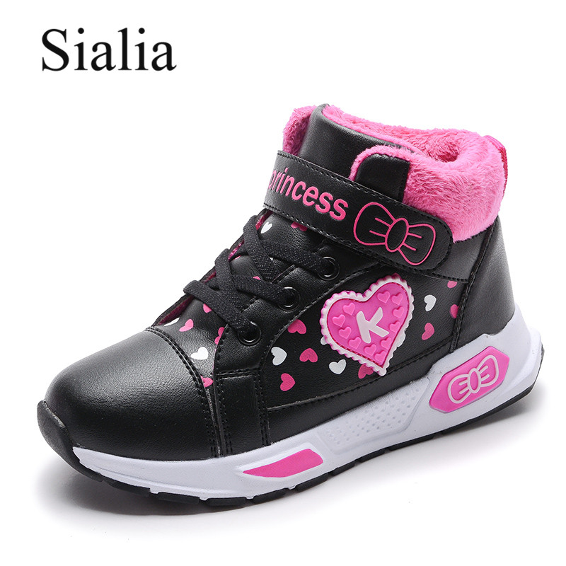 Sialia Winter Boots For Girls Shoes Kids Boots Children Shoes Plush Warm Outdoor School Fashion Lovely Bota Infantil Menina 2019