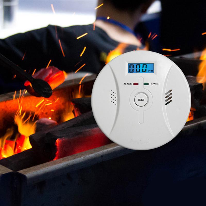 LCD CO Monoxide Sensor Work Alone Built-in 85dB Siren Sound Independent Carbon Monoxide Poisoning Warning Alarm Detector