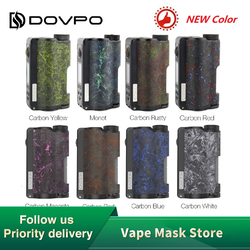 Новый оригинальный DOVPO Topside Dual Carbon Squonk Mod с чипом YIHI Питание от двух аккумуляторов 18650 Макс. Выход 200 Вт электронная сигарета мод Vs Drag 2