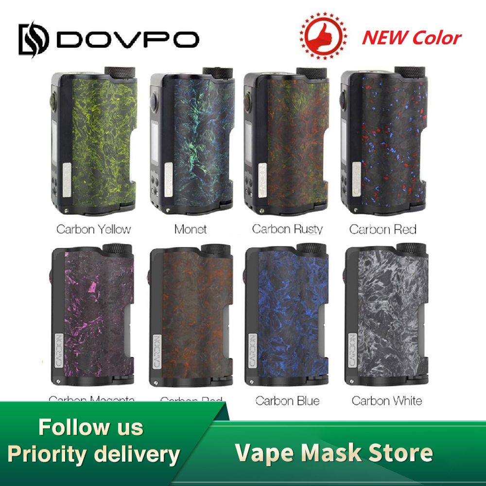 NEW Original DOVPO Topside Dual Carbon Squonk Mod With YIHI Chip Power By Dual 18650 Battery Max 200W Output E-cig Mod Vs Drag 2