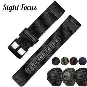 Sight Focus 24мм нейлоновый ремешок для часов для серии Suunto TRAVERSE Alpha Traverse Alpha, Suunto 9, Suunto 9 baro, Spartan sport, ремешок Essential для часов Essential Band Черный армейски...