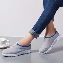 Breathable Mesh Summer Shoes Woman Comfortable Cheap Casual Ladies Shoe