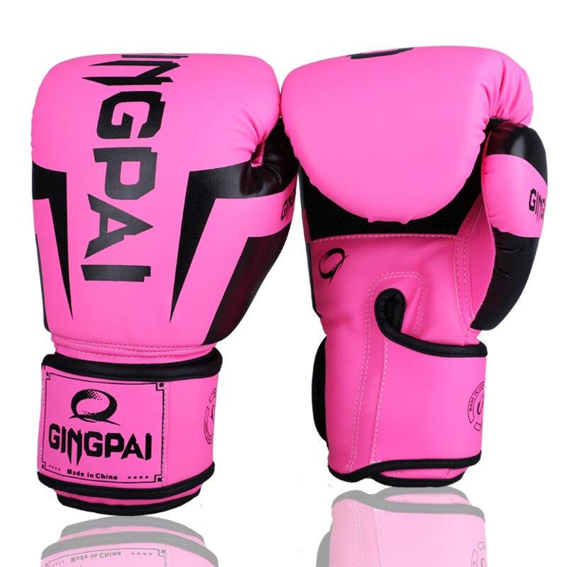 10-12 OZ Muay Thai PU cuir gants de boxe femmes hommes enfants MMA gants Gym formation subvention gants de boxe boxeo karaté boks